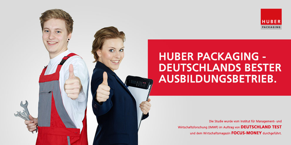 Bester Ausbildungsbetrieb Deutschlands HUBER Packaging