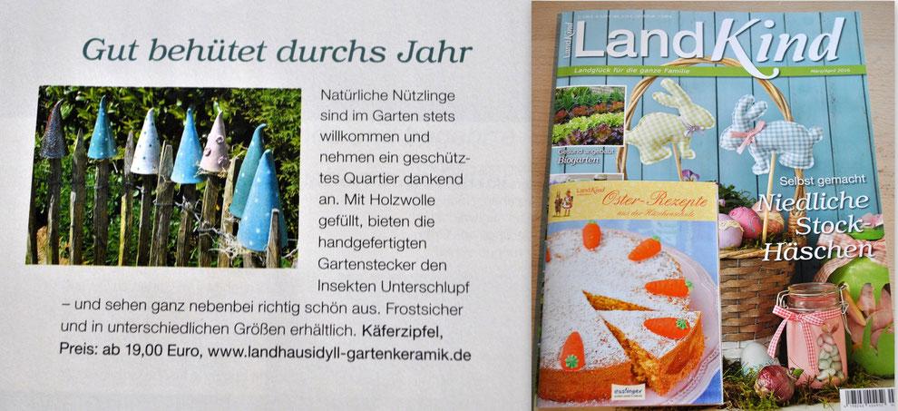 Käferzipfel im LandKind-Heft