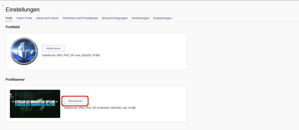 Tutorial Twitch offline banner hinzufügen oder bearbeiten