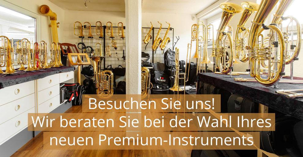 Bild von Ausstellungsraum. Wir beraten Sie bei der Wahl Ihres neuen Premium-Instruments