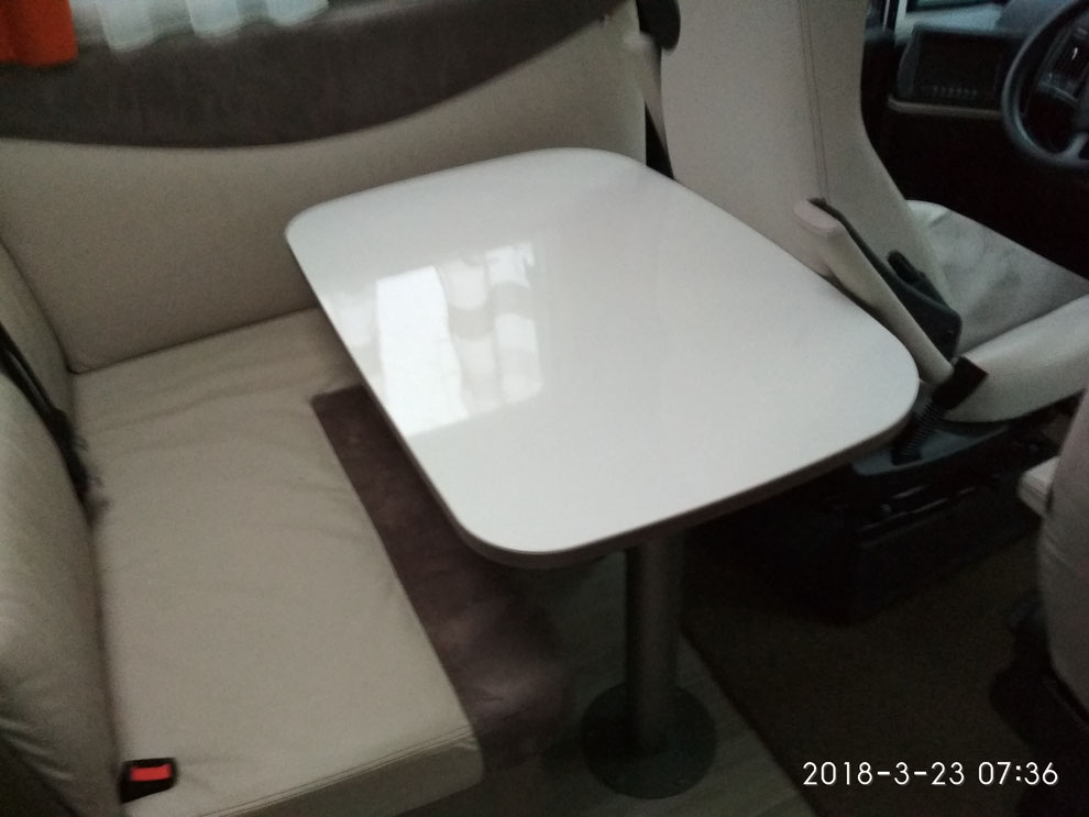 Die originale Tischplatte