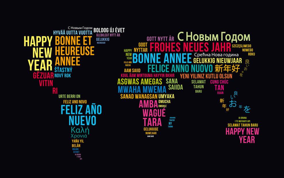 Ein glückliches Neues Jahr 2015 mit Frieden, Freude und viel Liebe!