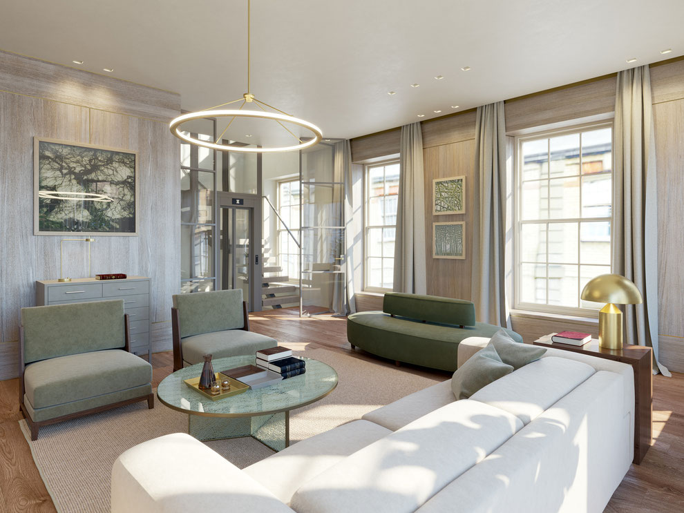 Interior Renderings 39 Headfort Place - London