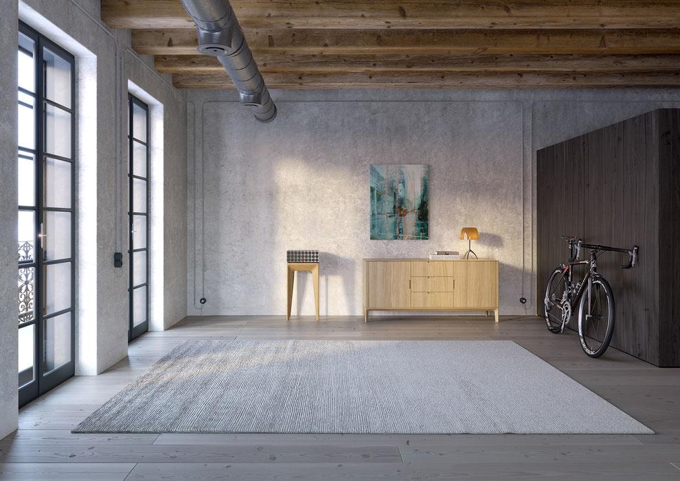 Rendering eines Sideboards für den Produktkatalog der Neuen Wiener Werkstätte NWW