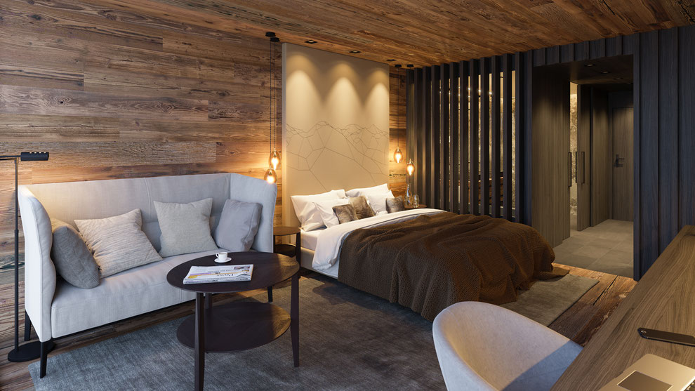 Hotelzimmer in Saas-Fee by Andrin Schweizer
