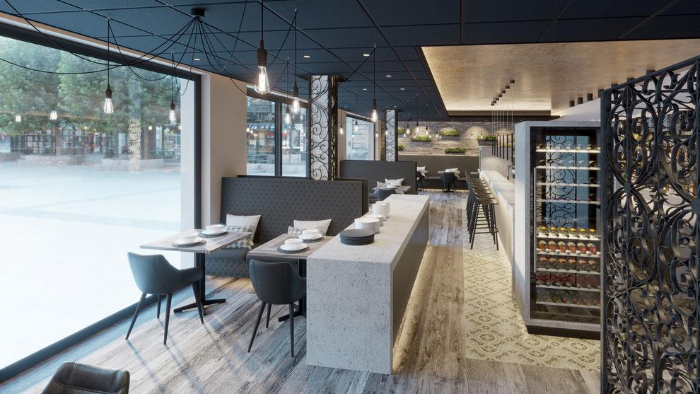 Innenraum Renderings + 360° VR für das Hotel Aurelia Aldingen