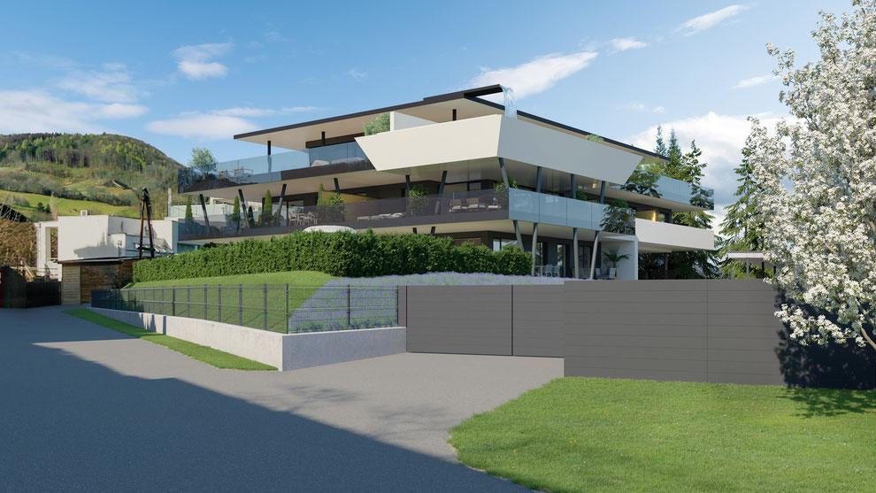 Wohnbau Kehlbergblick Visualisierungen - Innenraum und Außenraumbilder plus Drohnenaufnahmen