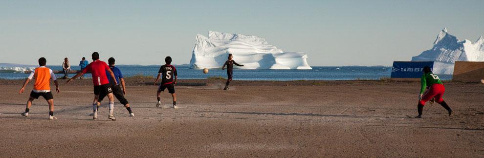 Grönland, Qeqertarsuaq, Disko, Fussball
