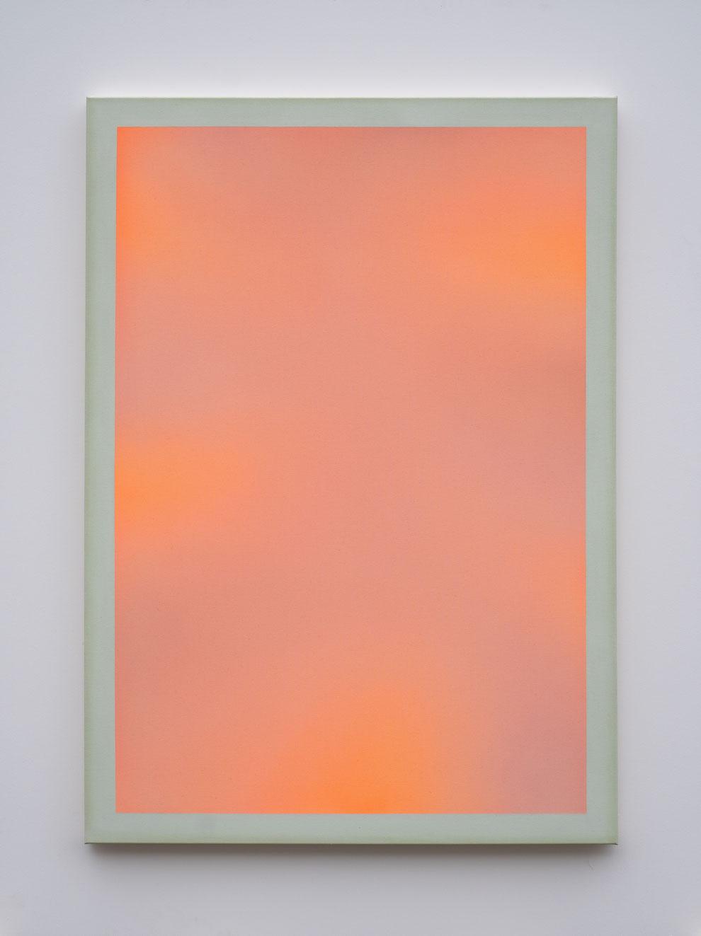 "Alina Birkner ""Untitled (Orange and Green)"" 2021, 170x120 cm"