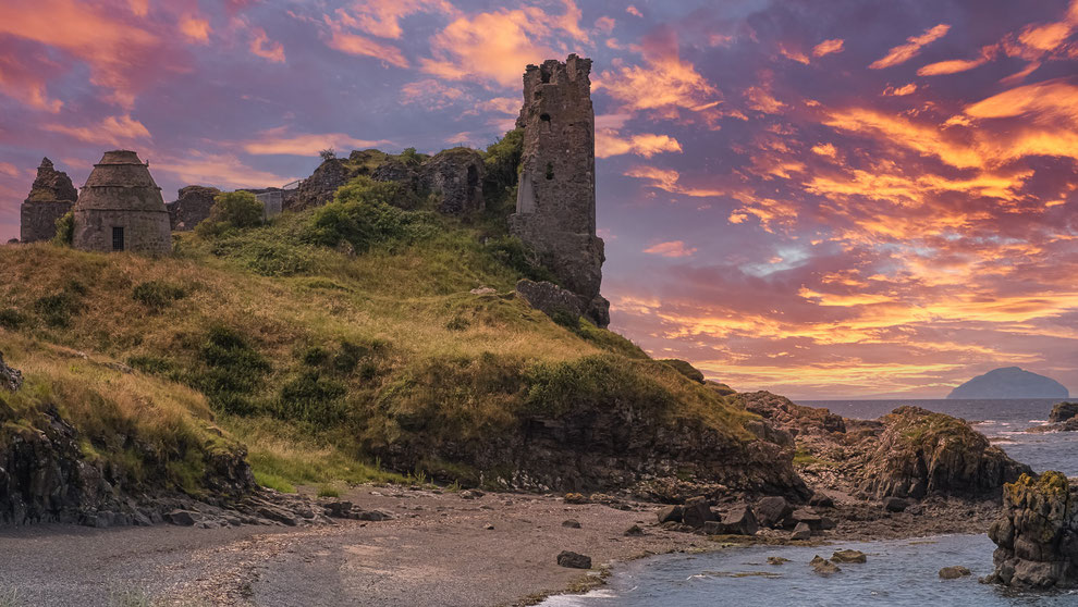 blog over selkies, outlander en silkie's island dunure castle ruins