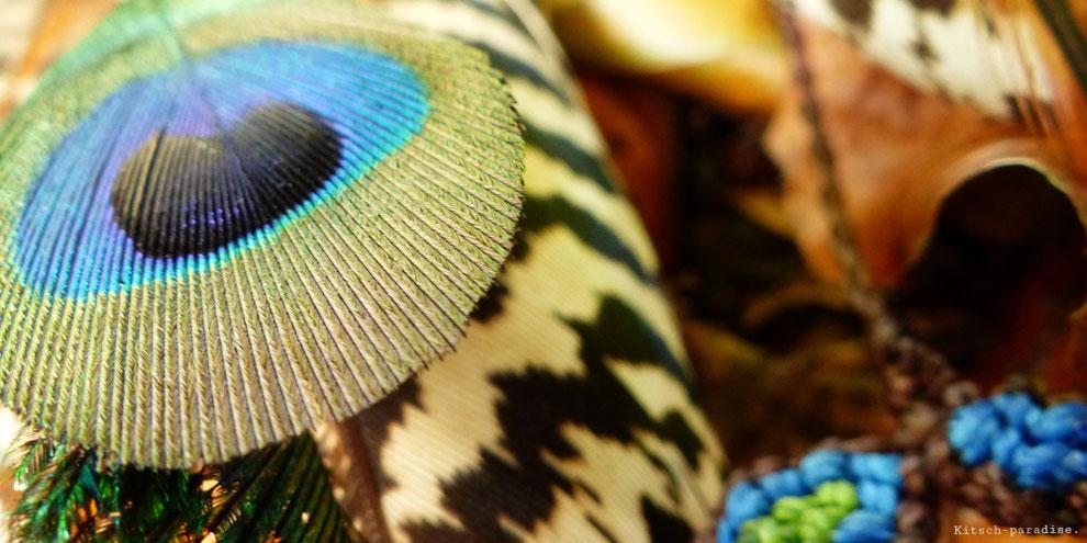 Kitsch, paradise, artisan, créateur,art, nature, plume, paon, photographie