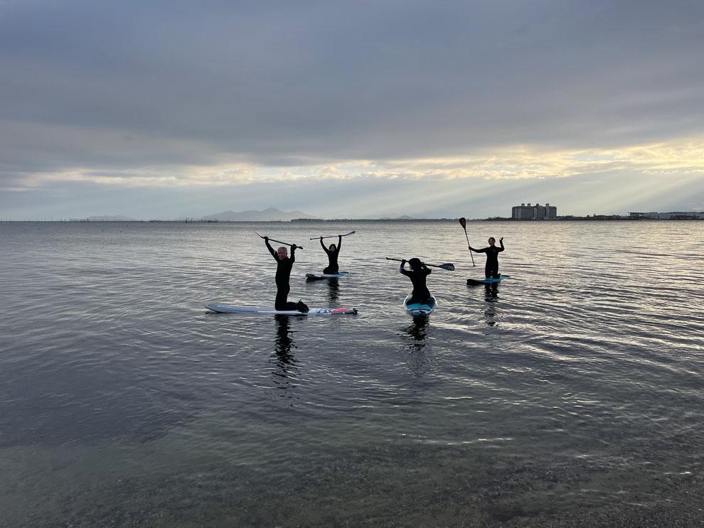 寒かったけど、湖面もうねりなく、漕ぎやすかったですよ。