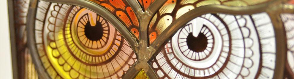 chouette vitrail atelier oliverre