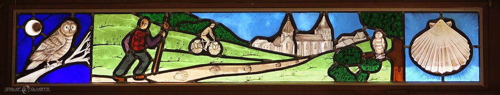 vitrail gite pelerin stained glass