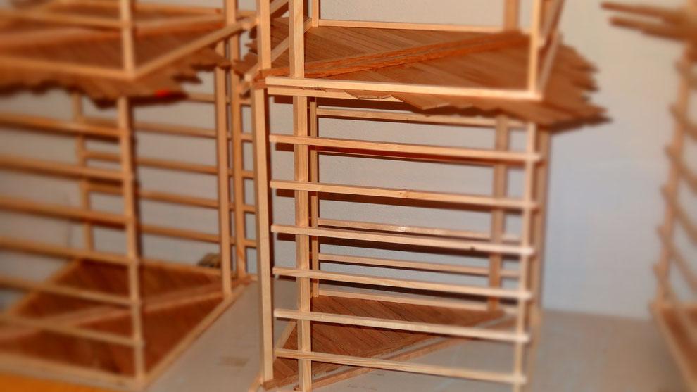 Dachstuhl aus Fichtenholz