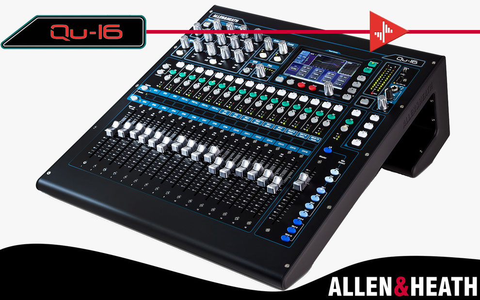 consola digital, allen&heath, qu16, interfase de audio