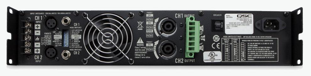 qsc cmx, cmx300, amplificadores para instalaciones