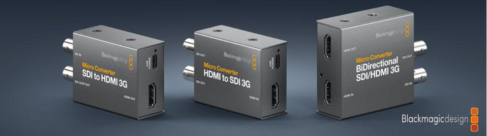 convertidor HDMI a SDI, SDI 3g, SDI a HDMI