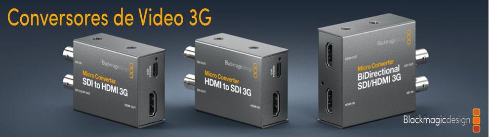 convertidores de video, SDI, HDMI, blackmagic