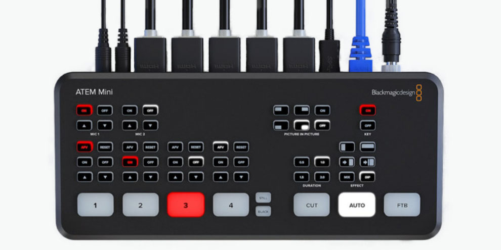 ATEM, blackmagic, switcher video