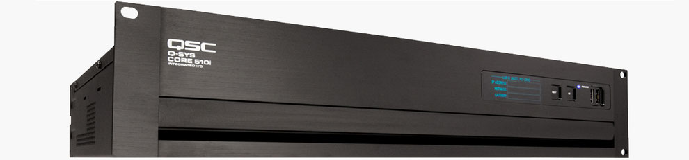 qsc core 510, procesador de audio, dbx, tesira forte