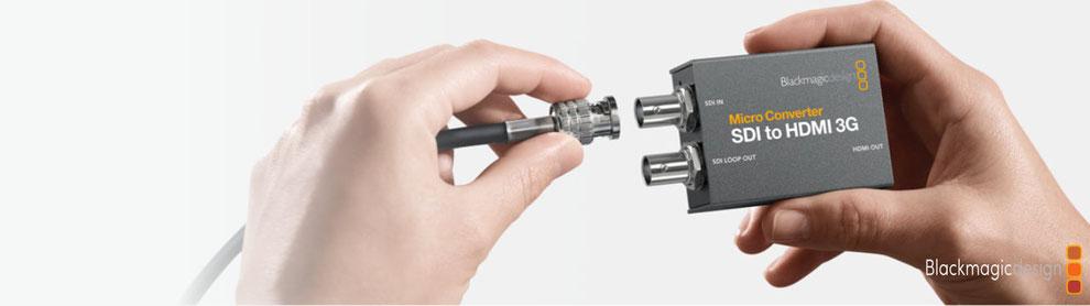 convertidores HDMI a SDI, SDI a HDMI, videoproducción