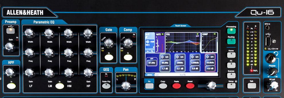 consolas digitales, allen&heath, audio, qu16, costo