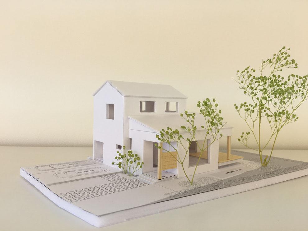 約20年ぶりに作った建築模型 外観