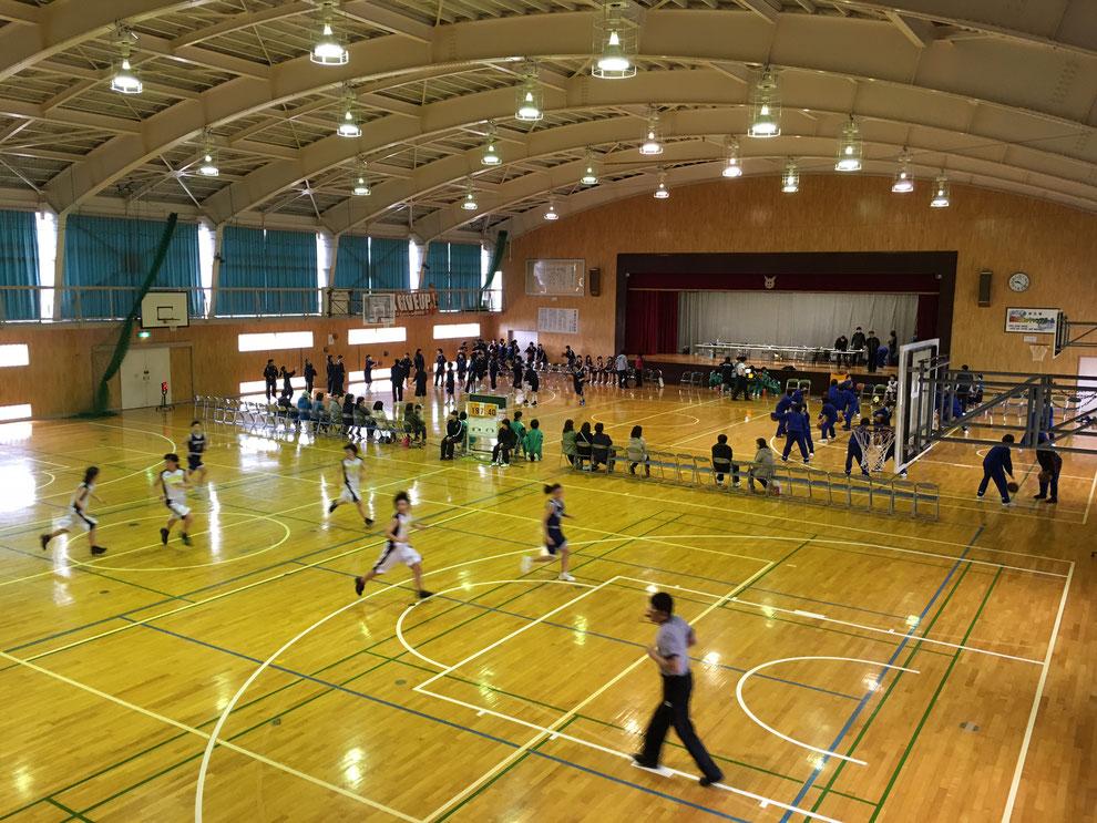 中学 バスケットボール部 大会の様子