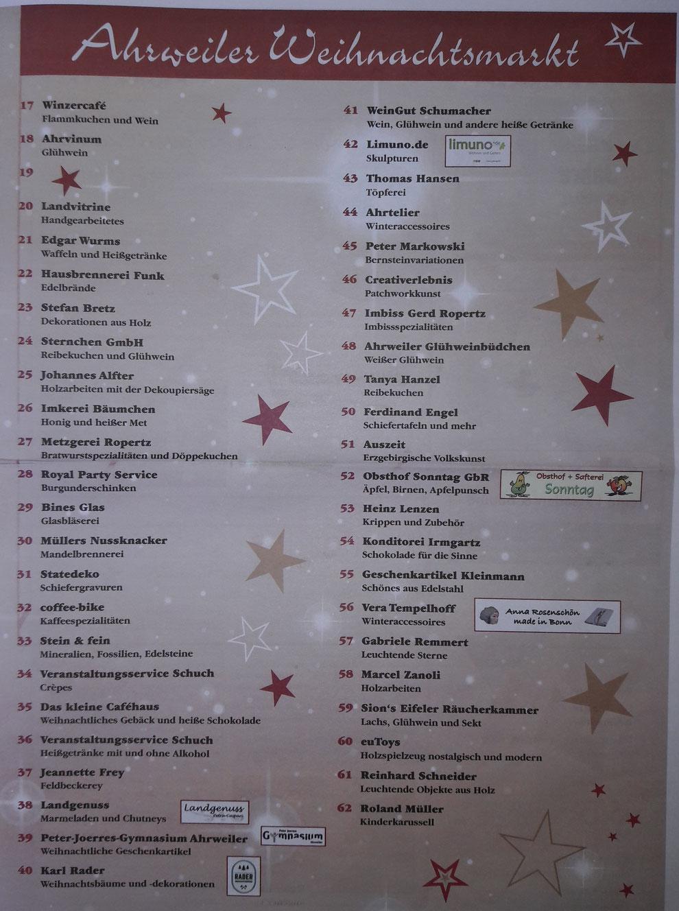 Ahrweiler Weihnachtsmarktaussteller 17 bis 54