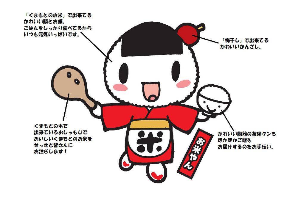 くまもと売れる米づくり推進本部 公式キャラクター「お米やん」
