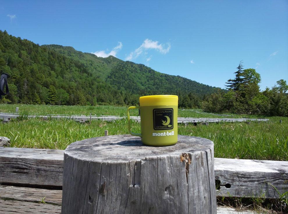 沼尻休憩所で燧ヶ岳を眺めながら至福の珈琲タイム
