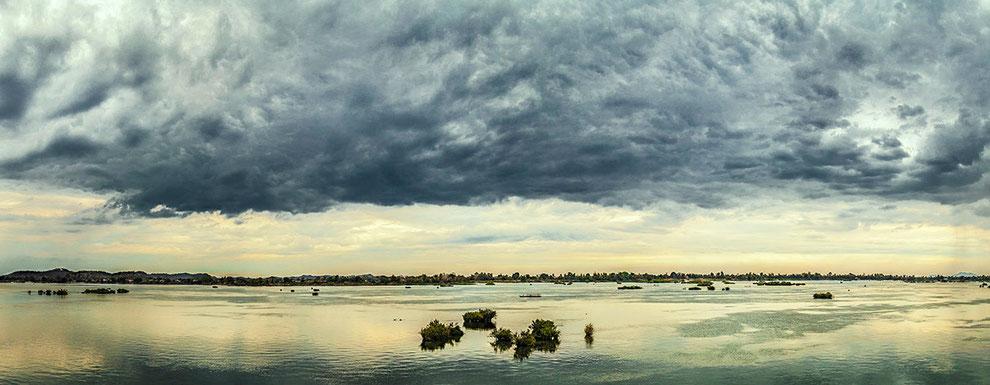 El río Mekong en todo su esplendor, desde la isla Don Khong.