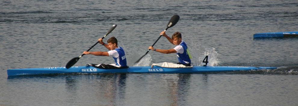 Felix Wirl (re.) und Simon Hoiß  auf Platz vier (Foto: Monika Sandner)
