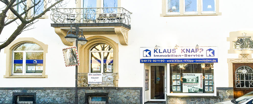 Bild zeigt das Klaus Knapp Immobilien-Service Büro in Bad Homburg.