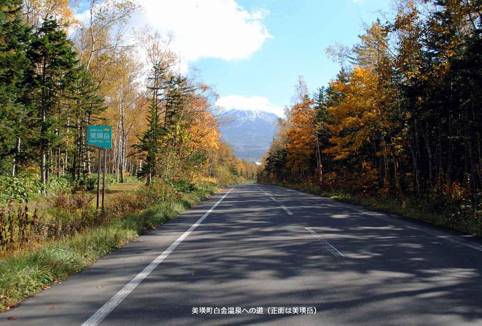 美瑛町白金温泉への道