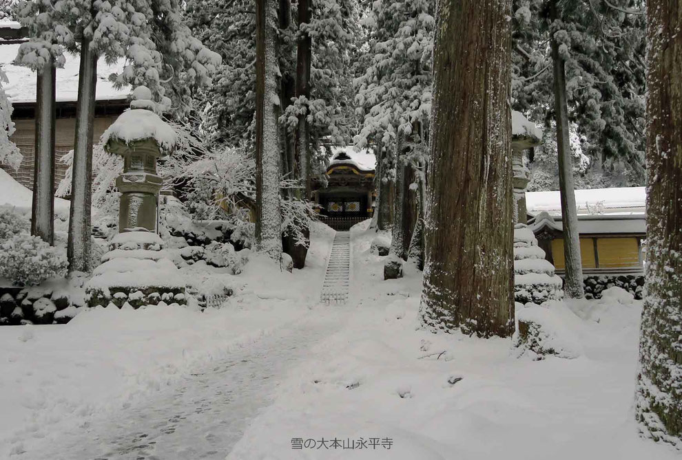 雪の大本山永平寺-2