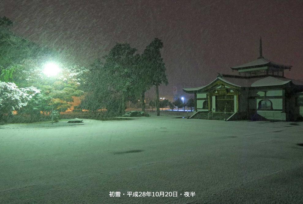 初雪・平成28年10月20日夜半