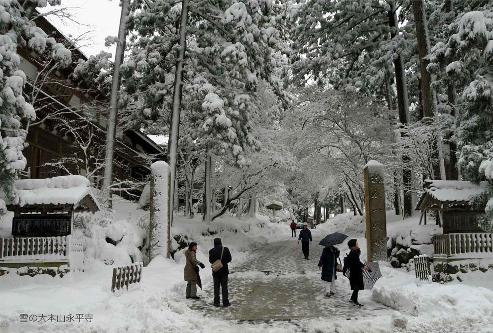 雪の大本山永平寺-1