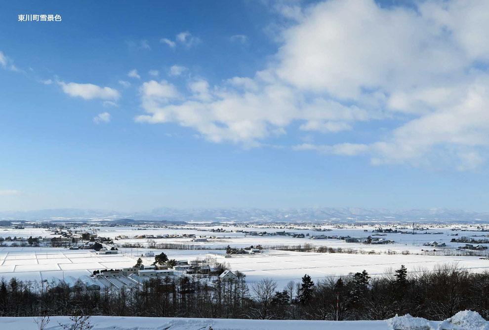 東川町雪景色