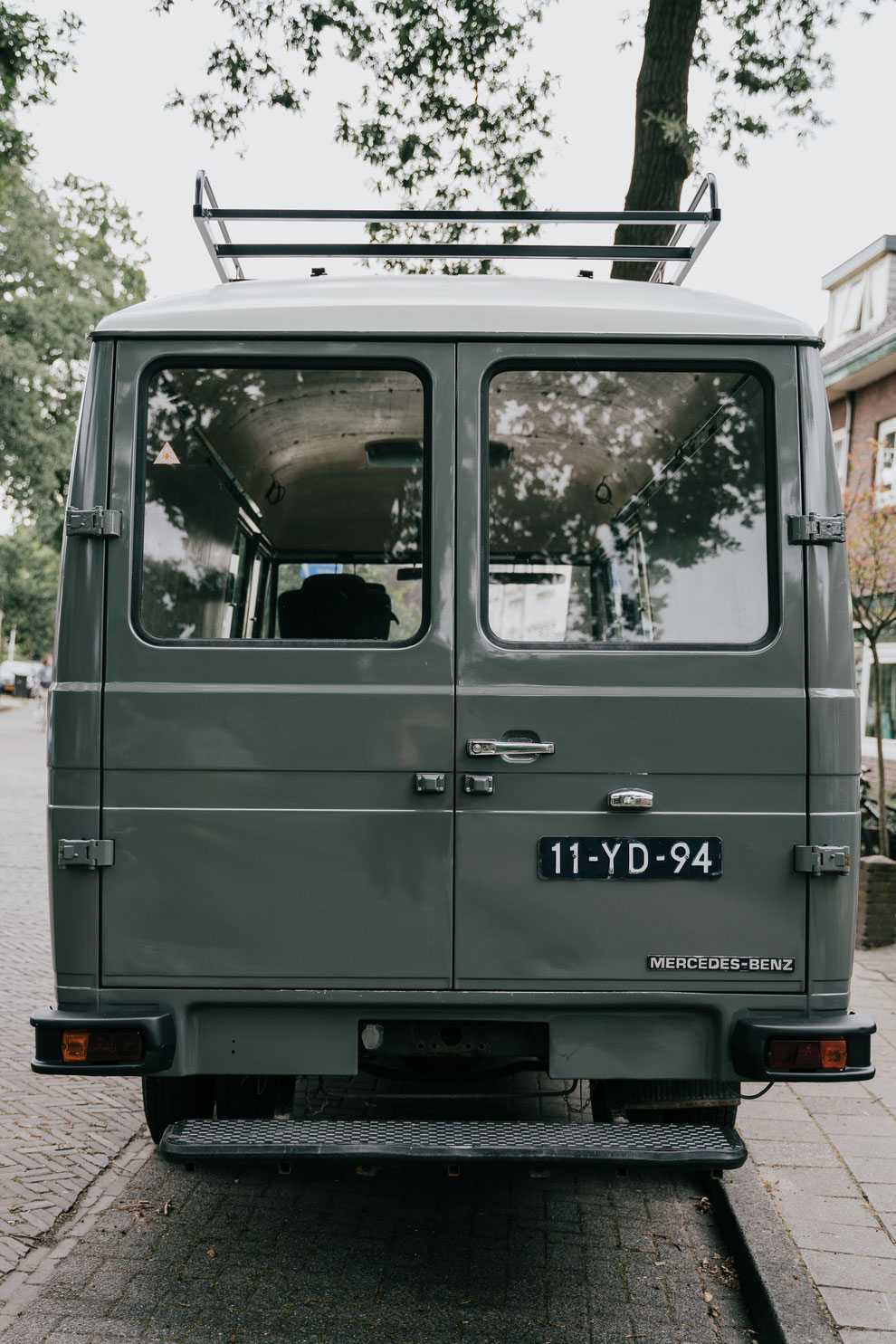 Van life with Bodhi Mercedes 508d camper