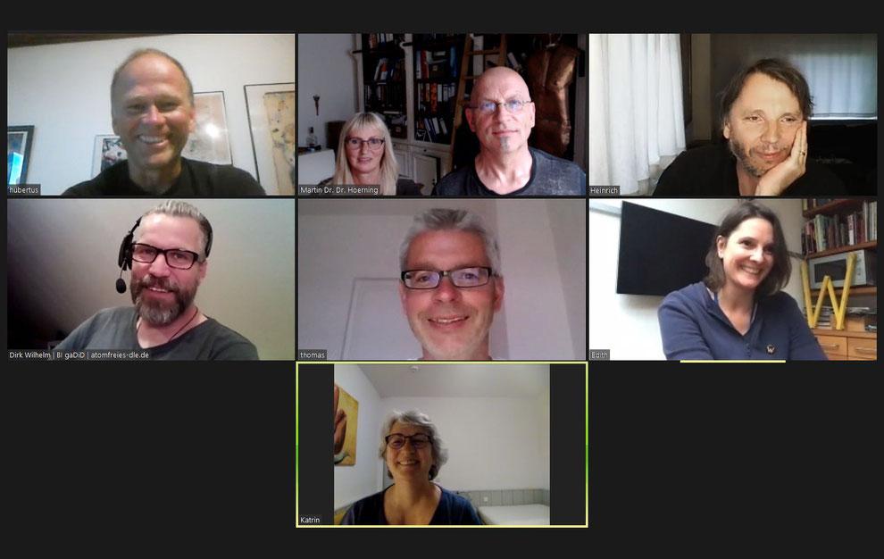 Screenshot von der Videokonferenz bei der Gründung der Bürgerinitiative als Verein. Foto: BI Atomfreies 3-Ländereck