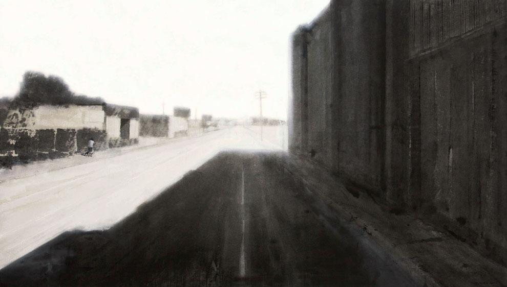 East Alexandrine Street 2012 Tempera auf Segeltuch 140 x 160 cm