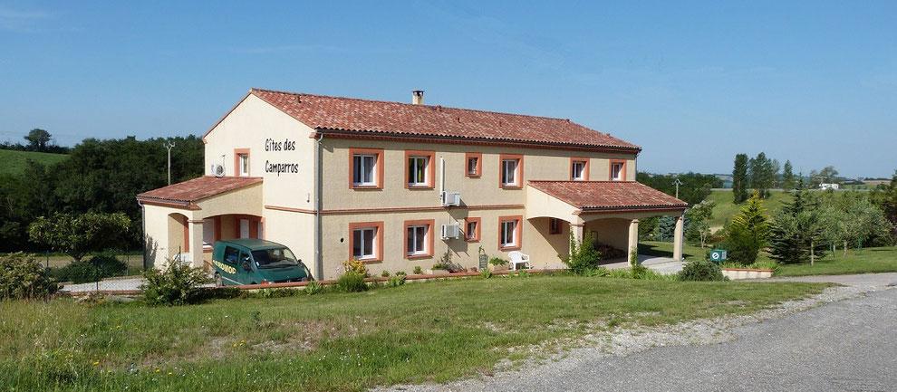 maison des Gites des Camparros à Nailloux vue coté nord