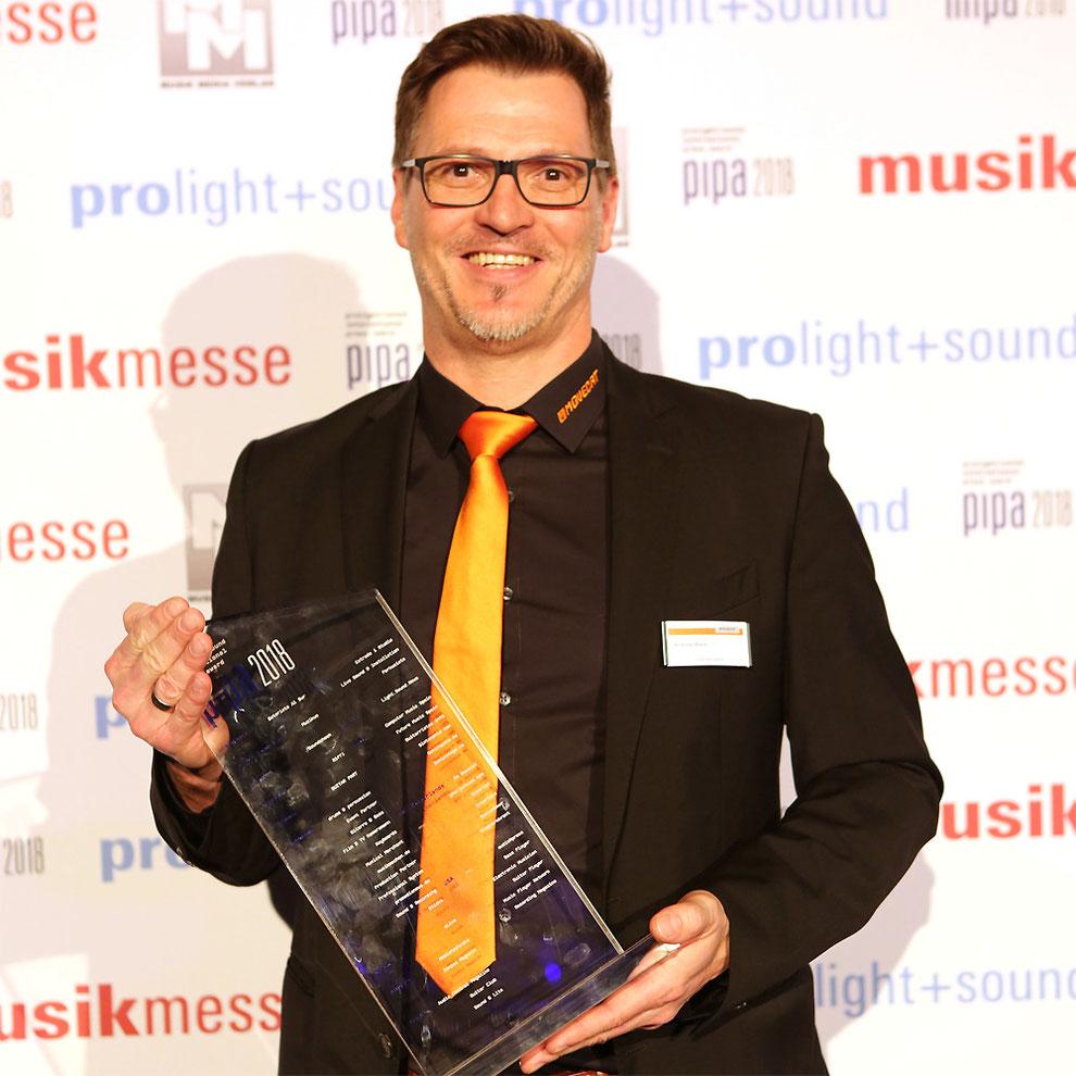 Movecat mit P.I.P.A. Award 2018 für Touring Rack 2 ausgezeichnet