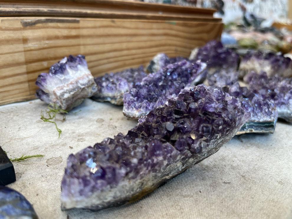 Amethyst Kristallspitzen