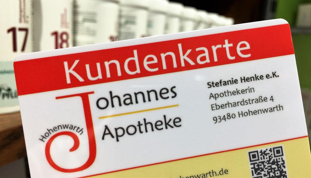 Kundenkarte der Johannes-Apotheke Hohenwarth