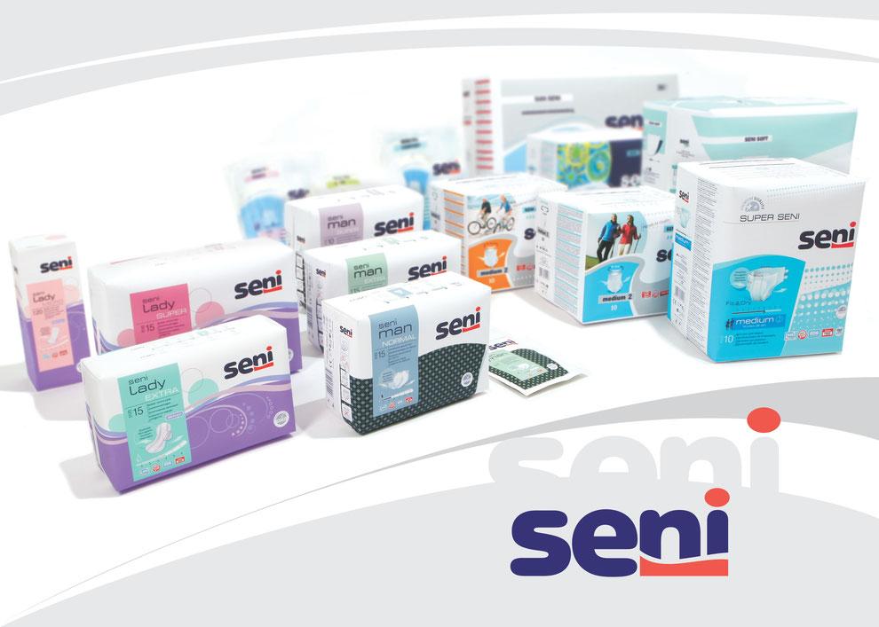 SENI Produktsortiment Inkontinenz