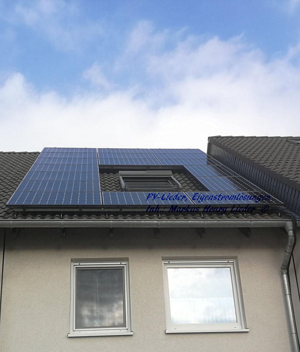 PV-Lieder Eigenstromlösungen: Sunpower Solaranlage auf dem Süddach