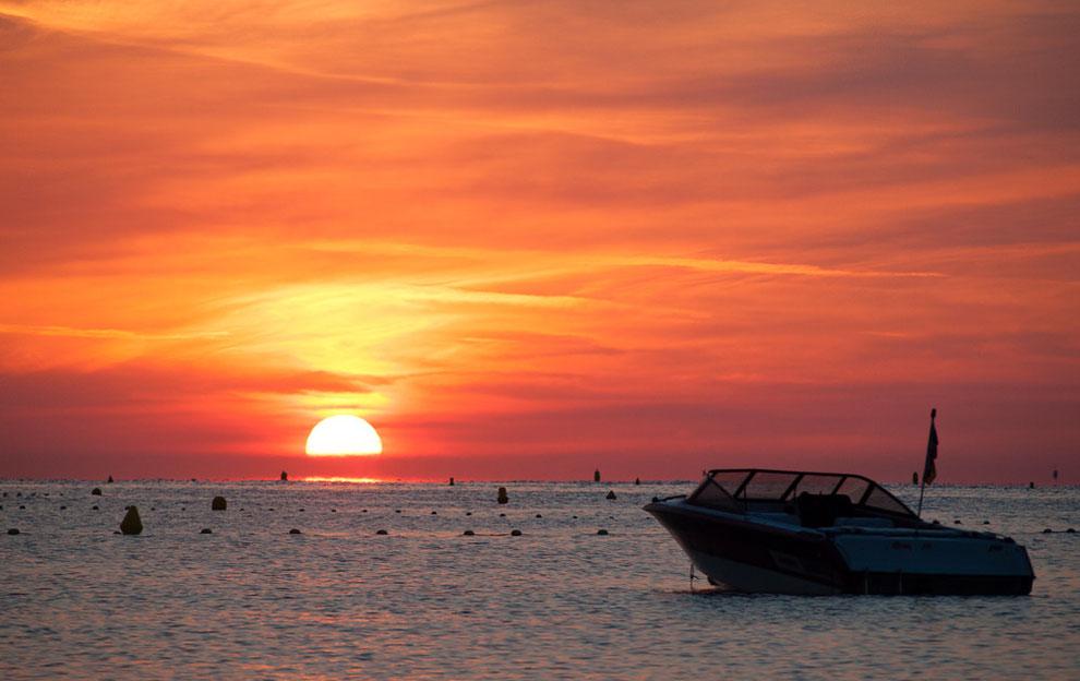 Sonnenaufgang im Golf von Saint-Tropez
